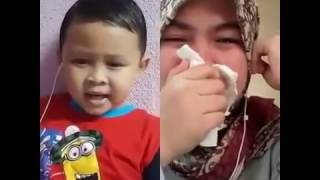 Smule Sedih,Anak Kecil Nyanyi Lagu Tegar Rindu Ibu, Bikin ibu menangis