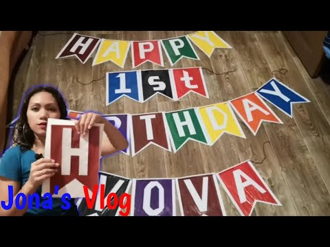 DIY Paper Birthday Banner | Little Putin's first birthday / Filipina-Russian Family