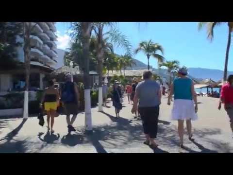 Walking the Malecon, Puerto Vallarta, Mexico
