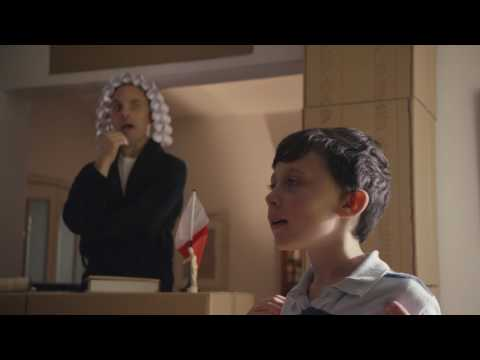 Atlas Home Insurance - The defendant, Julian, aged 10, stands accused of breaking the TV