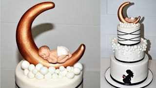 Cake decorating tutorials | how to make a  BABY SHOWER CAKE | Sugarella Sweets