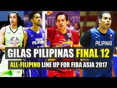 Gilas Pilipinas FINAL 12 Roster for FIBA Asia Cup 2017 | All-Filipino? No Blatche? ᴴᴰ