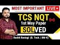 Gambar cover 🔴07 Live Actual Paper Solving   TCS NQT May 2021  Rachit Sir   Placement   AMCAT   Elitmus   Cocube