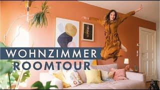 ROOM TOUR WOHNZIMMER | Vorher Nachher | Wie ist die ROTE WAND geworden!?