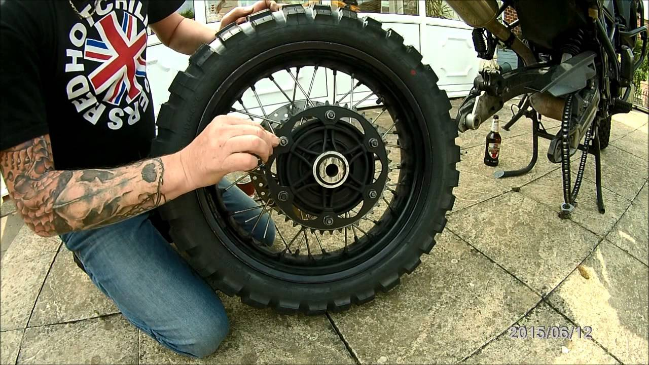 bmw f800gs rear wheel removal and cush drive rubbers - YouTube