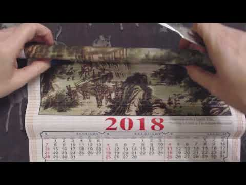 ASMR Whisper ~ Taiwan Scroll Calendar Show & Tell w/ Pointer