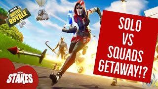 FORTNITE BATTLE ROYALE SOLO GETAWAY WIN! HIGH STAKES EVENT! THE GETAWAY!