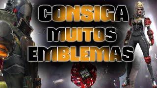 FREE FIRE- COMO CONSEGUIR MUITOS EMBLEMAS!!