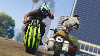 I'M IN TEARS! *MOTORCYCLE MELEE TROLLING!* | GTA 5 THUG LIFE #135