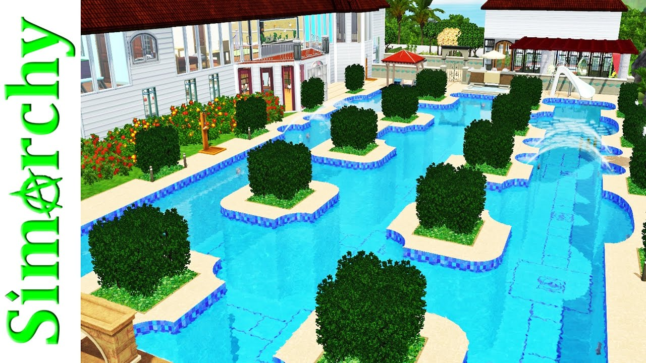 The sims 3 house tour super amazing large home pool for Pool design sims 3