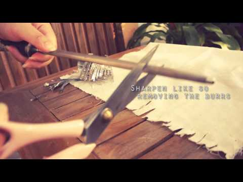 How to Sharpen Your Scissors (works on fabric)