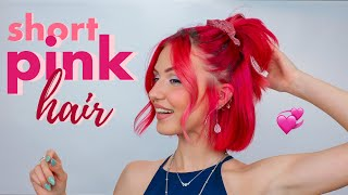 Styling my hair until I convince you to try Short Pink Hair