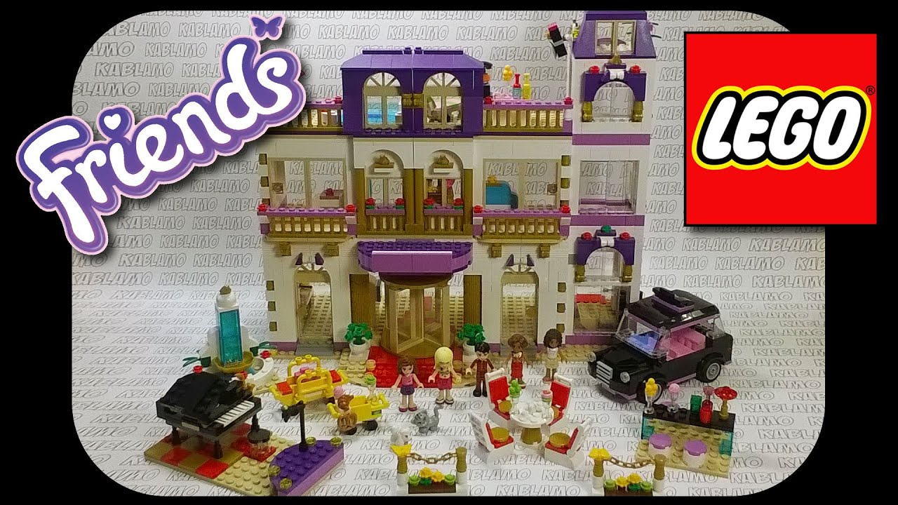 Lego friends heartlake grand hotel 41101 lego friends uk - Lego 41101 Heartlake Hotel Time Lapse Build And Short Review