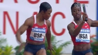 USA Women's Relay Team has troubles in 4x100m - Universal Sports