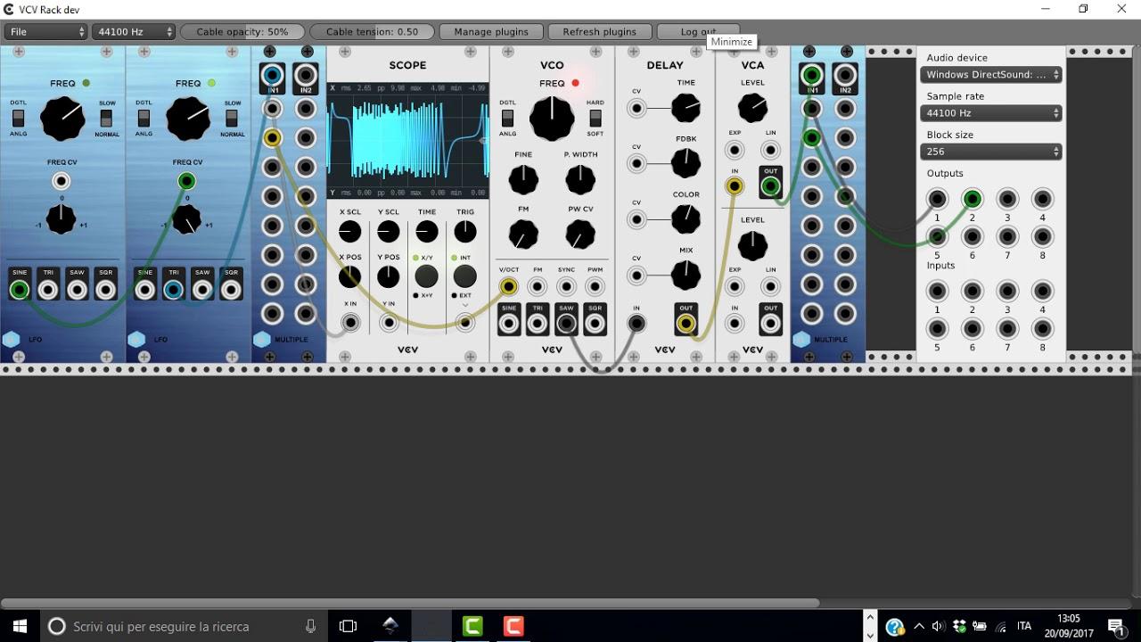 VCV Rack - Autodafe Plugin Pack - VC LFO + 2x8 Multiple