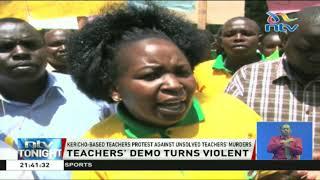 Kericho-based teachers protest against unsolved teachers' murders