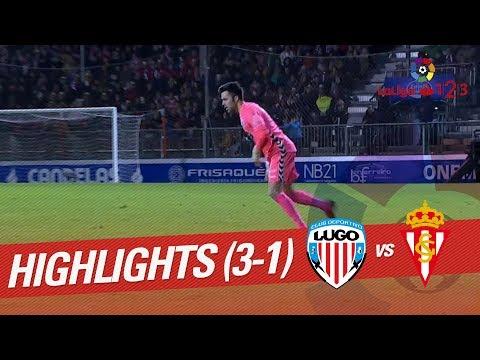 Resumen de CD Lugo vs Sporting de Gijón (3-1)