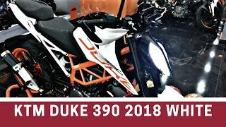 Launch Alert: KTM Duke 390 2018 edition WHITE COLOR | Walkaround and review| Whats new?