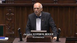 Janusz Korwin-Mikke o expose Mateusza Morawieckiego