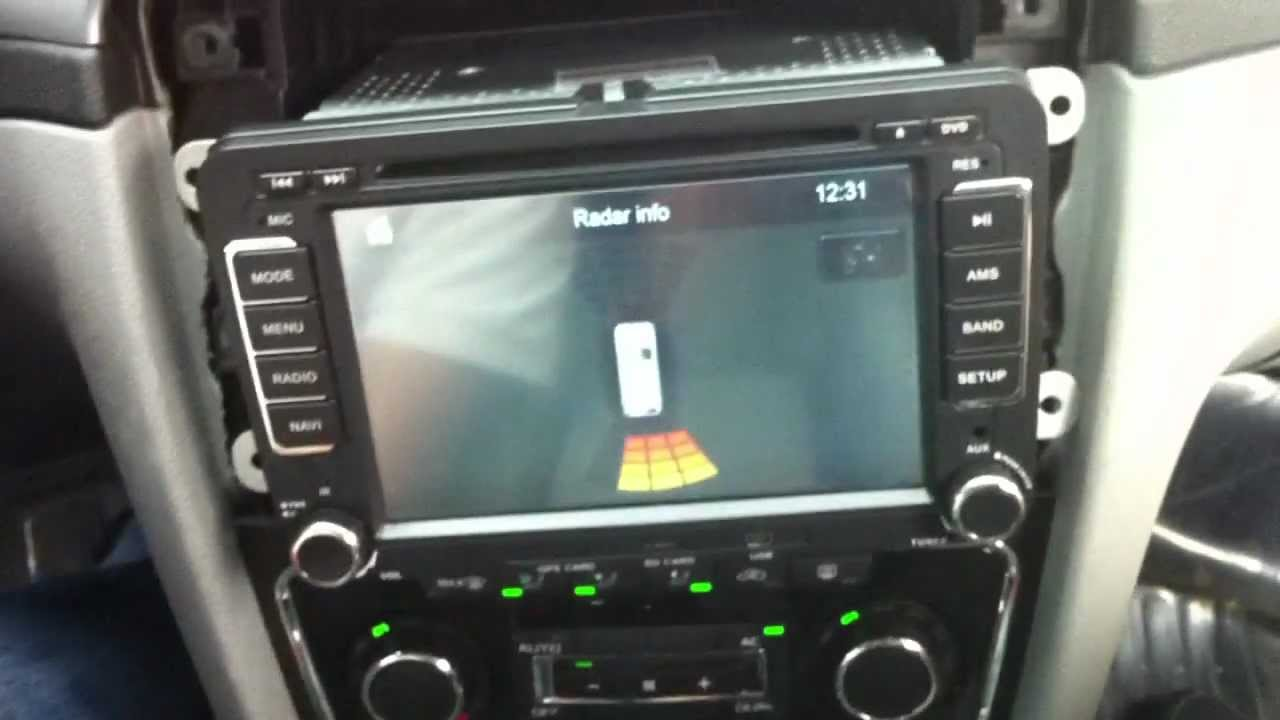Parking Sensor Display Vw Dvd Gps Unit With Can Bus