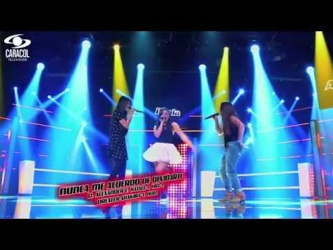 Amalia,Ilenia y María cantaron'Nunca me acuerdo de olvidarte'de Shakira– LVK Colombia–Batallas – T1