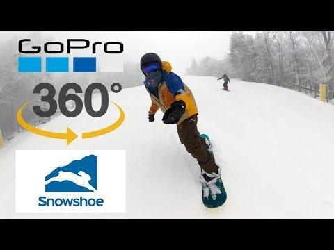 Snowboarding Snowshoe Mountain (GoPro MAX 360 Reframe)