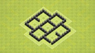 CLASH OF CLANS - TH4 FARMING BASE BEST TOWN HALL 4 FARMING BASE (PROTECTS LOOT + TRAP PLACEMENT)