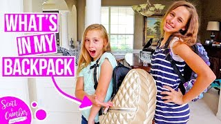 WHAT'S IN MY BACKPACK FOR THE FIRST DAY OF SCHOOL!?| Scott and Camber