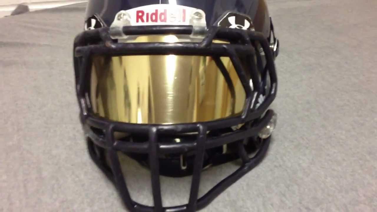 Football Gold Mirror Tinted Ua Visor On Revo Speed Tint