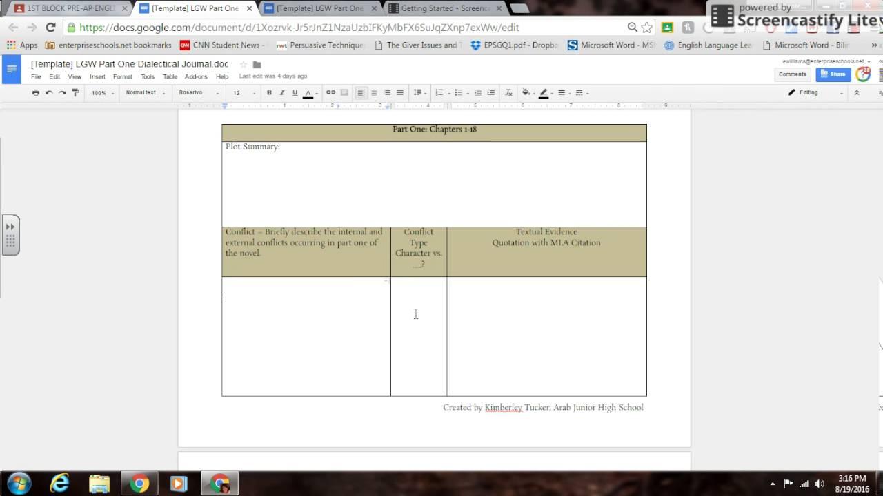 Dialectical Journal Template Microsoft Word Elitadearest