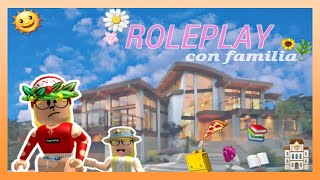👧Roleplay with 👧 Bloxburg (ROBLOX) family 😒*My father gets angry with me*😢