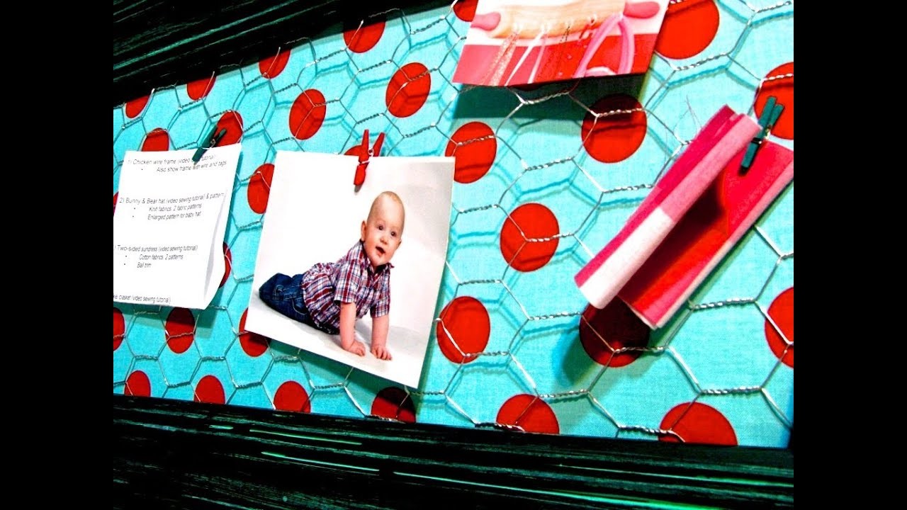 Recycled Memo Board with Chicken Wire - YouTube