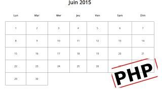 Créer un calendrier en PHP