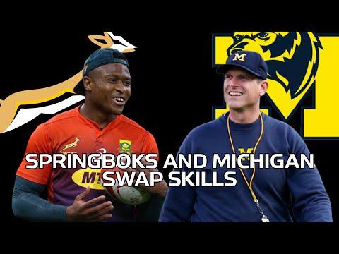 Michigan Wolverines Meet The Springboks | Rugby Vs American Football