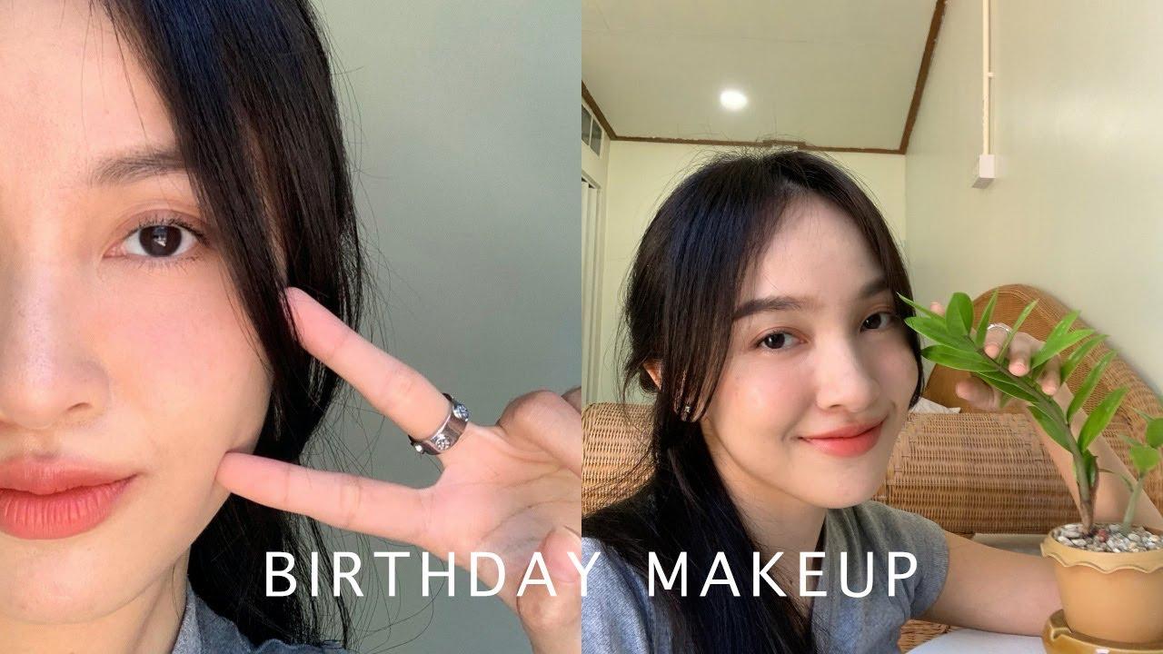Birthday Makeup cover ACNE แต่งหน้ากลบสิวงบ 300 บาท | mayRai