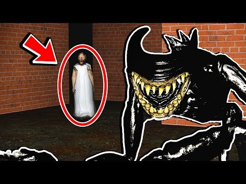 BEAST BENDY FINDS HAUNTED GRANNY MAZE! Bendy and The Ink Machine Gmod Sandbox Funny Moments