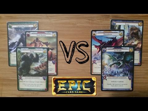 Epic Card Game Match - GS Dragon Control vs. EW Attrition Burn