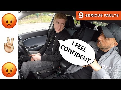 ANGRY Driver SWEARS at Learner Driver | 60 SECOND DRIVING TEST FAIL