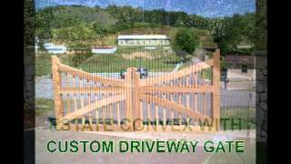 Beautiful Cedar Driveway Gates from New England Woodworks