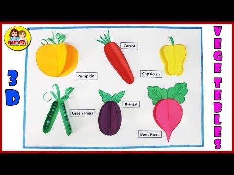 How to make 3D Vegetables with Paper - Paper Crafts - DIY Vegetables