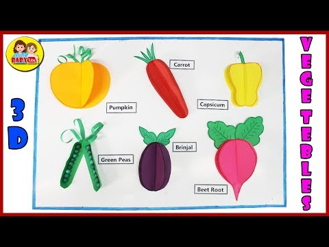 How to make 3D Vegetables with Paper - Paper Crafts - DIY Vegetables