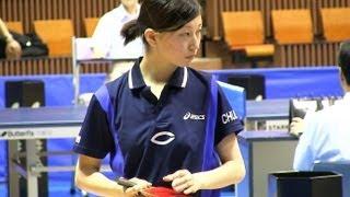 Table Tennis 松村夏海 × 丹羽美里 関東学生卓球2013-514
