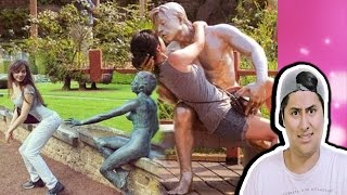 Hilarious People Having Fun With Statues