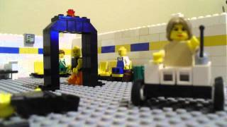 Angry Old Lady at Airport(Lego Animation)