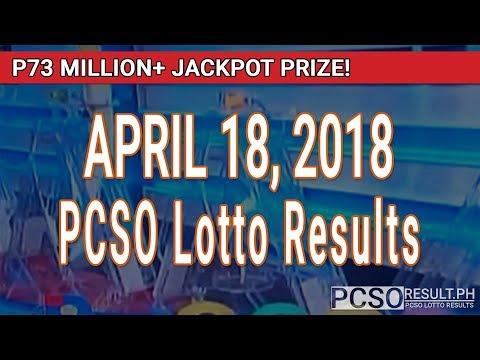 PCSO Lotto Results Today April 18, 2018 (6/55, 6/45, 4D, Swertres, STL & EZ2)