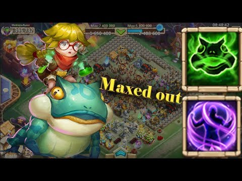 Castle Clash : |Professor Ribbit | 8/8 Iron Will | Maxed Out| Gameplay