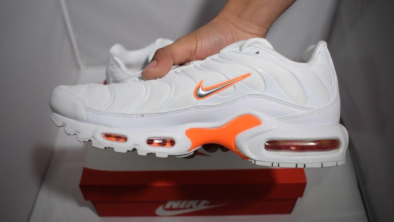 4ebc732d111cf8 Nike Air Max TN White   Orange Vlone Unboxing - YouTube