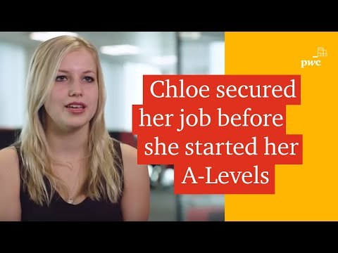 Working as a school or college leaver at PwC in Leeds