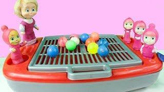 Maşalar Oyuncak Mangalda Sürpriz Yumurta Yapıyor Oyuncaklarla Oynuyor Maşa İzle