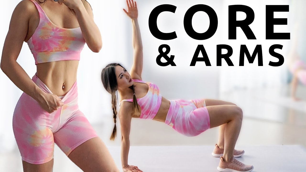 10 Mins Core & Arms Workout | 2 Weeks Shred Challenge